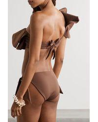 Johanna Ortiz Brown As Is Bikini-höschen
