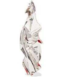 Closer by Wwake - Red Painted Veil Enameled Sterling Silver Earrings - Lyst