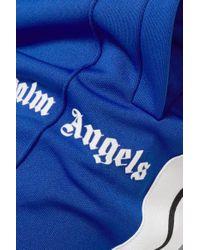 Palm Angels Blue Striped Satin-jersey Track Pants