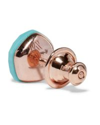 e4b7c92794a9f Monica Vinader Nura Nugget Rose Gold Vermeil Turquoise Earrings - Lyst
