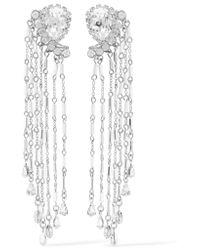 Erickson Beamon - Metallic Paper Cranes Silver-tone Crystal And Bead Earrings - Lyst