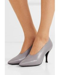 Dries Van Noten Gray Pumps Aus Leder