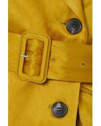 Dries Van Noten Multicolor Bounty Double-breasted Belted Metallic Faille Blazer