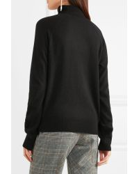 L'Agence Philo Cutout Wool And Cashmere-blend Turtleneck Sweater Black