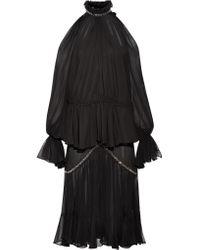 Robe Midi En Mousseline De Soie À Volants Et À Œillets Jonathan Simkhai en coloris Black