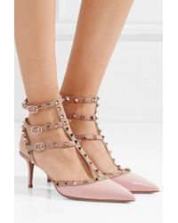 Valentino Pink Rockstud Leather Pumps