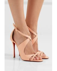 Christian Louboutin - Pink Malefissima Patent-leather Sandals - Lyst