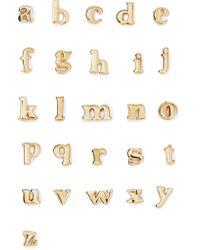 Catbird Metallic Alphabet Gold Earring