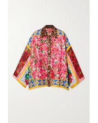 Dolce & Gabbana Pink Printed Silk Shirt
