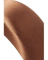 Serre-tête En Satin De Soie Prada en coloris Brown