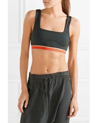 Olympia Black Knox Stretch-jersey Sports Bra