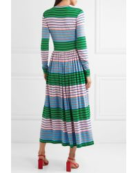 Stine Goya - Green Joel Striped Stretch-jersey Midi Dress - Lyst
