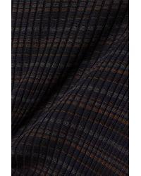 Akris Black Striped Mulberry Silk Sweater