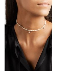 Sydney Evan Metallic 14-karat Gold, Opal And Diamond Necklace