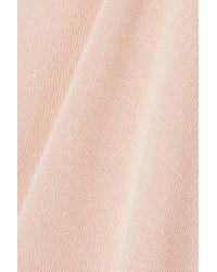 Alo Yoga Pink Barre Long-sleeve Tie-waist Crop Top