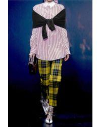 Balenciaga Multicolor Jersey And Striped Cotton-poplin Shirt