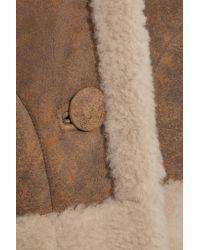 MiH Jeans - Brown Rainey Reversible Shearling Coat - Lyst