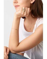 Jennifer Meyer Metallic Open Heart 18-karat Gold Turquoise Ring