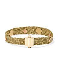 Bracelet En Or 18 Carats, Soie Et Pierres Multiples Carolina Bucci en coloris Metallic