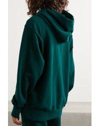 Les Tien Green Hoodie Aus Baumwoll-jersey
