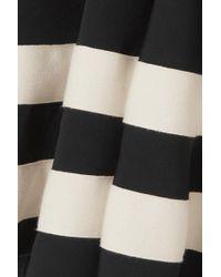 J.W. Anderson Black Minikleid Aus Twill Mit Besatz Aus Canvas