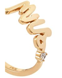 Alison Lou - Metallic Mrs 14-karat Gold Diamond Ring - Lyst