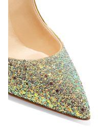 Christian Louboutin - Green Pigalle Follies Dragonfly 100 Glittered Leather Pumps - Lyst