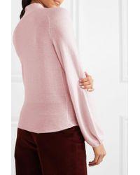 Temperley London Pink Chime Pullover Aus Kaschmir Mit Schluppe