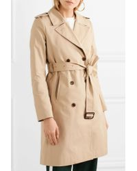 J.Crew - Natural Dion Cotton-gabardine Trench Coat - Lyst