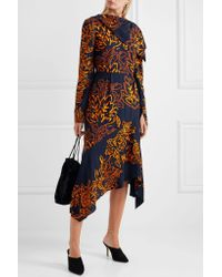 Peter Pilotto - Blue Silk Embroidered Dress - Lyst
