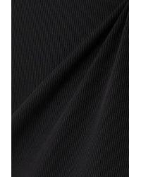 ACK Black Rina Gerippter Badeanzug Mit Rückenausschnitt