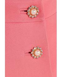 Miu Miu - Pink Embellished Cady Mini Skirt - Lyst