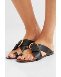Chloé | Black Nils Textured-leather Sandals | Lyst