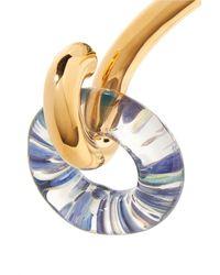 Charlotte Chesnais - Metallic Swing Gold-dipped And Glass Choker - Lyst