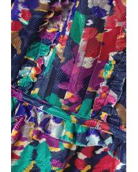Jason Wu Purple Minikleid Aus Devoré-organza Mit Blumenprint Und Rüschen