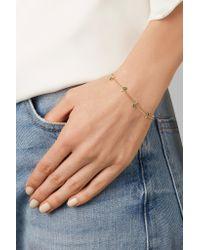 Jemma Wynne | Metallic 18-karat Gold, Emerald And Diamond Bracelet | Lyst