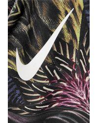 Nike Purple Printed Stretch Sports Bra