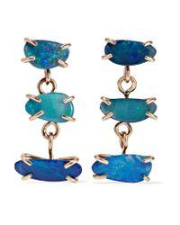 Melissa Joy Manning Blue 14-karat Gold Opal Earrings