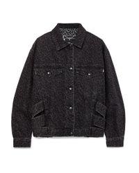 McQ Alexander McQueen Black Leopard-print Denim Jacket