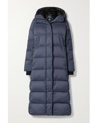 Canada Goose Blue Alliston Hooded Quilted Ripstop Down Coat
