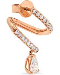 Anita Ko - Metallic 18-karat Rose Gold Diamond Earring - Lyst