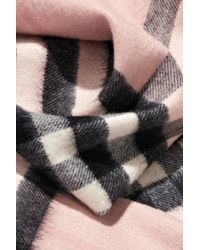 Burberry Multicolor Fringed Checked Cashmere Scarf