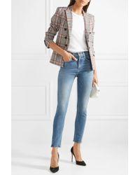 Veronica Beard Blue Faye High-rise Skinny Jeans