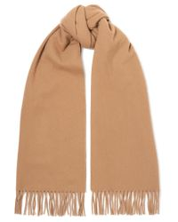 Acne - Natural Canada Narrow Fringed Wool Scarf - Lyst