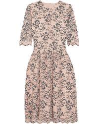 Ganni Pink Stretch-lace Dress