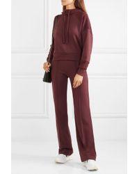 TWENTY MONTREAL Purple Sunnyside Embroidered Cotton-blend Terry Hoodie