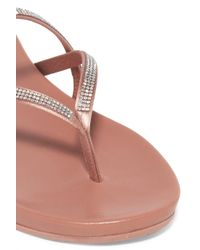Pedro Garcia Multicolor Giulia Crystal-embellished Satin Sandals