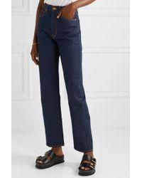 SLVRLAKE Denim Blue London Hoch Sitzende Jeans Mit Geradem Bein
