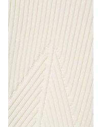 Pull À Basque En Mailles Côtelées Jason Wu Collection en coloris White