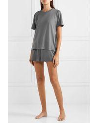Skin Gray Sabine T-shirt Aus Pima-baumwoll-jersey